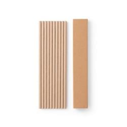 Conjunto de 10 canudos em papel kraft