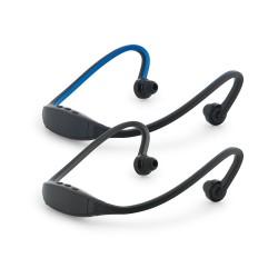 Fone de ouvido ABS e silicone. Com transmissão por bluetooth