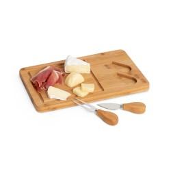 Tábua de queijos. Bambu e aço inox