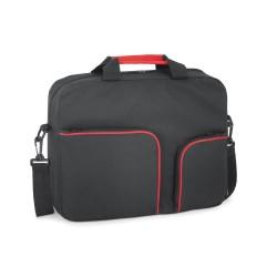 Pasta multifuncoes 600D com bolsos frontais com ziper e alca de ombro ajustavel