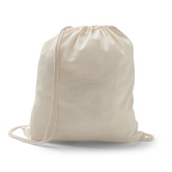 Sacola tipo mochila 100 por cento algodao