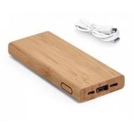 Bateria portátil. Bambu. Bateria de lítio