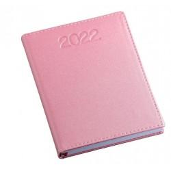 Agenda diária 2022 de couro sintético azul