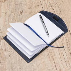 Caderneta tipo Moleskine Couro Sintetico