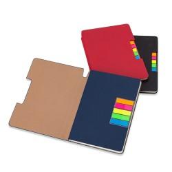 Caderno com autoadesivo