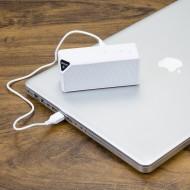 Caixa de som multimídia, rádio FM, alto falante de 80db, bluetooth 2.1, entrada USB, entrada micro SD