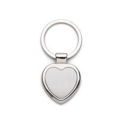 Chaveiro de metal formato coração