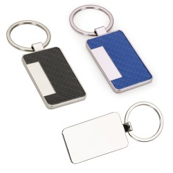 Chaveiro metal brilhante formato porta cartão