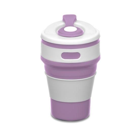 Copo retrátil 350ml de silicone, livre de BPA