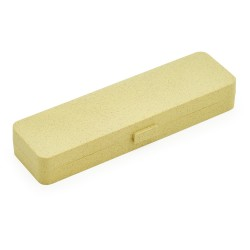 Estojo fibra de bambu para uma caneta, contém berço de espuma interno