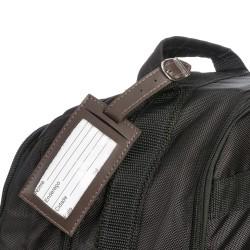 Tag identificador de bagagem de couro sintético