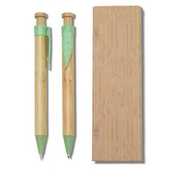 Conjunto Caneta e Lapiseira Bambu