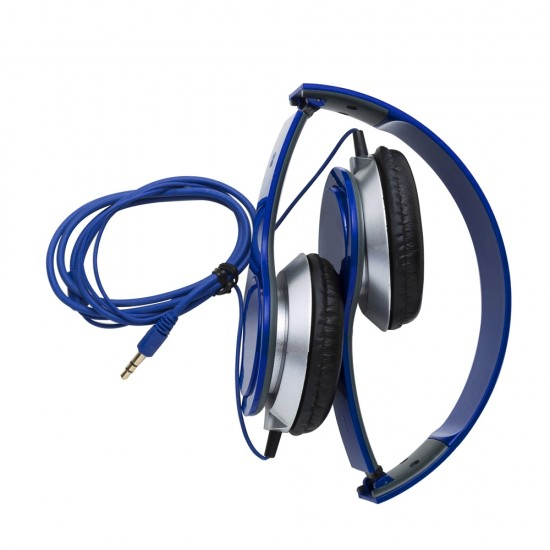 Fone de ouvido estéreo articulável, protetor em couro sintético