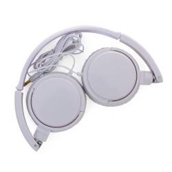 Headphone estéreo, plástico resistente com haste ajustável e fone giratório
