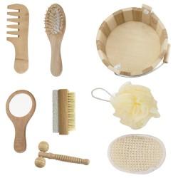 Kit banho de madeira com 7 peças