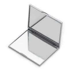 Espelho Retangular Plástico Duplo Sem Aumento