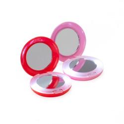 Espelho plástico redondo duplo com aumento e com luz