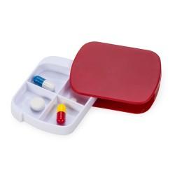 Porta comprimidos plástico com quatro divisórias