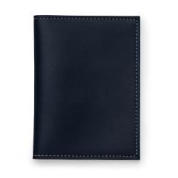 Porta documento Bidins em couro sintético, capa frente e verso lisa
